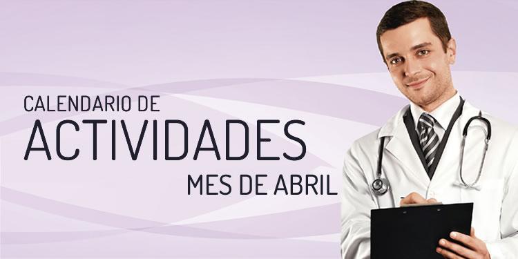 CALENDARIO DE ACTIVIDADES DE ABRIL