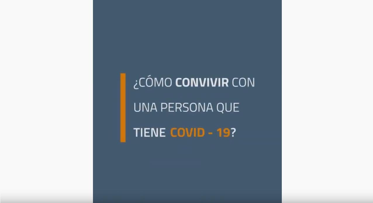 ¿Cómo convivir con una persona que tiene COVID-19?