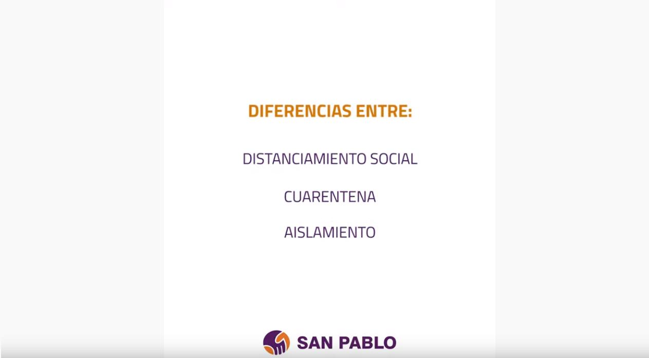 Diferencias entre Distanciamiento Social, Cuarentena y Aislamiento
